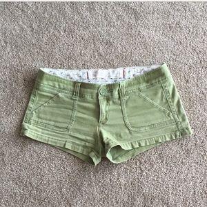 Light green Hollister shorts